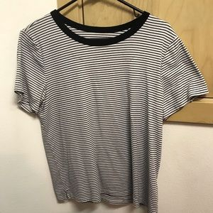 Old Navy women's XL black and white stripe t shirt